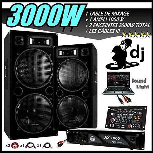 sono 3000w pack dj complet car audio