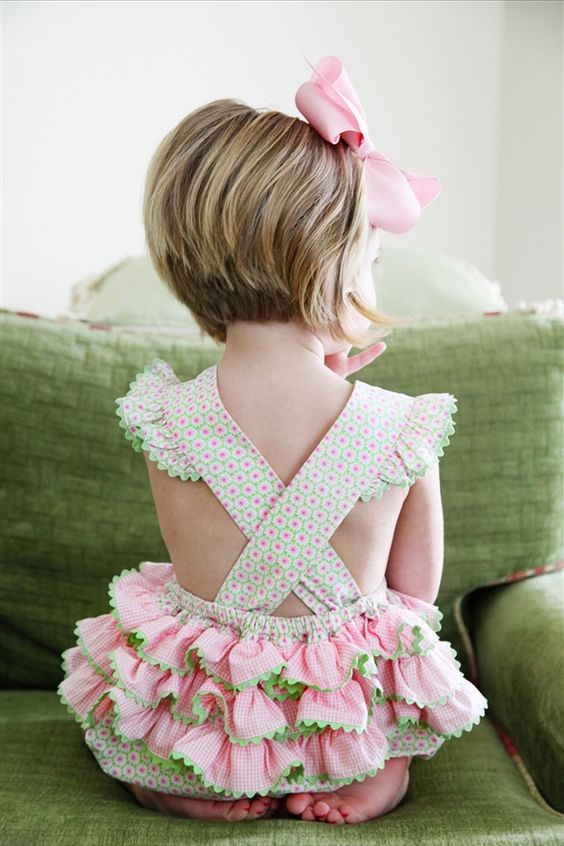 ruffle butt bubble suit:  clothing you can put her in until she starts dressing herself