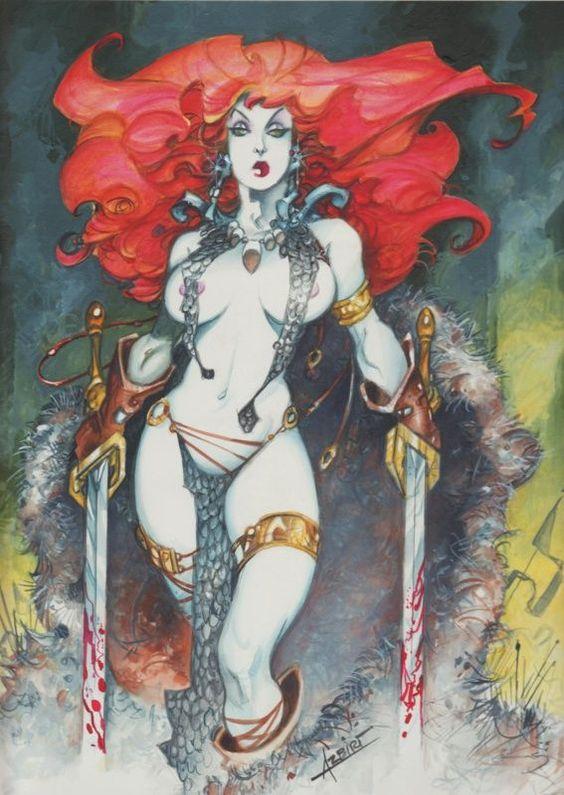 Azpiri - Red Sonja by Alfonso Azpiri - Original Cover