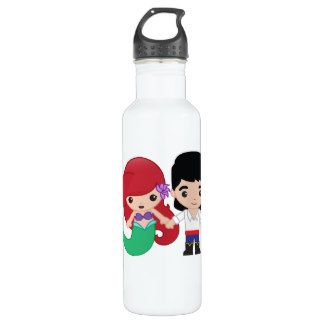 Ariel and Prince Eric Emoji Water Bottle