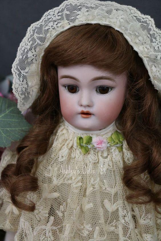 Antique Handwerck #140 Doll, 17 IN, Antique German Bisque Doll, Antique Doll!