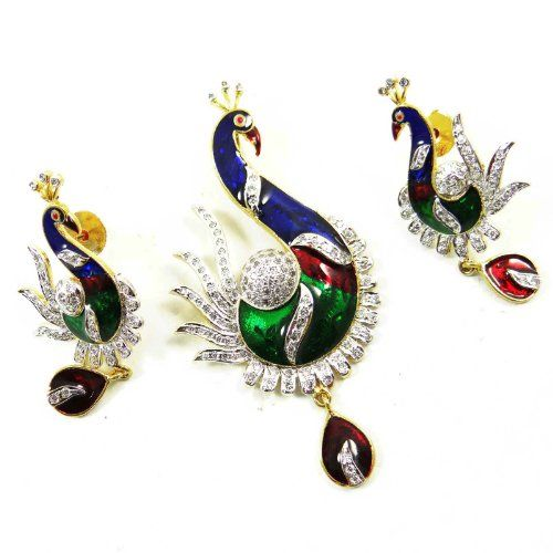 Bollywood- Stil Multicolor Emaille AD Steinanhänger Ohrring-Frauen Ethnische Schmuck-Geschenk | Your #1 Source for Jewelry and Accessories