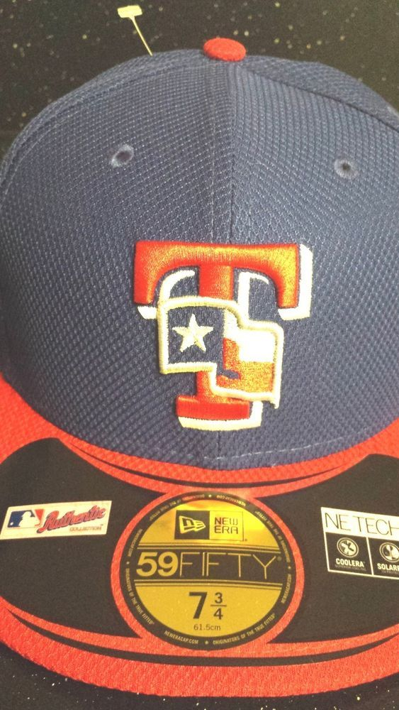 "Texas Rangers MLB New Era 59Fifty ""BP"" Fitted Hat New"