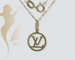 GNK369 Real Gold LV  Necklace