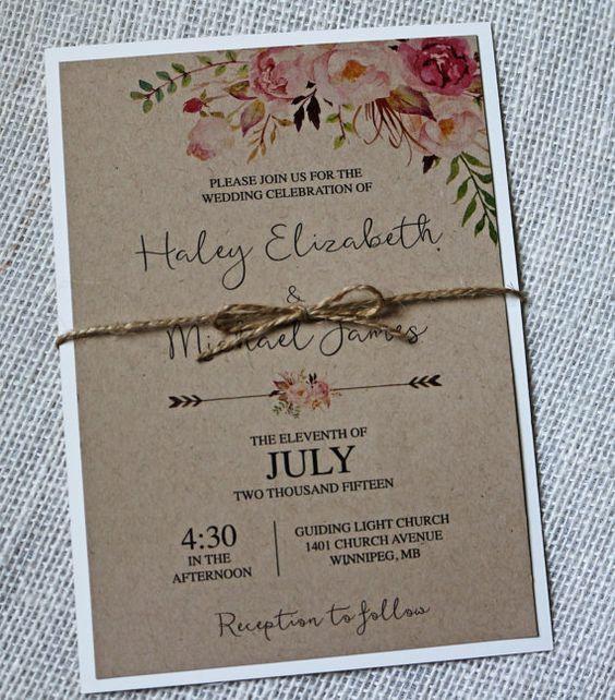Watercolor Wedding Invite as adorable invitation layout