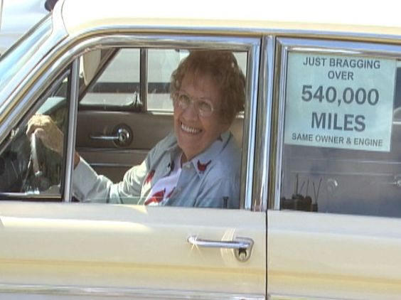 This is an unusual love story involving an 89-year-old woman and her beloved Chariot. The two have been together for decades and traveled more than 540,000 miles across this nation's highways and side streets.