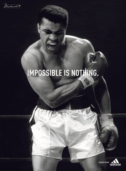 Ali aka Cassius Clay. I have pinned this on 3 of my other boards. It fits to everything. #action #sports #inspiring