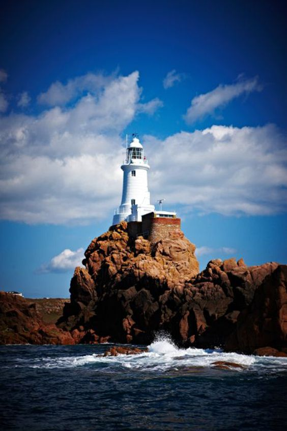 The picturesque Corbiere Lighthouse on the coast of Jersey, Channel Islands #EscapeToJersey