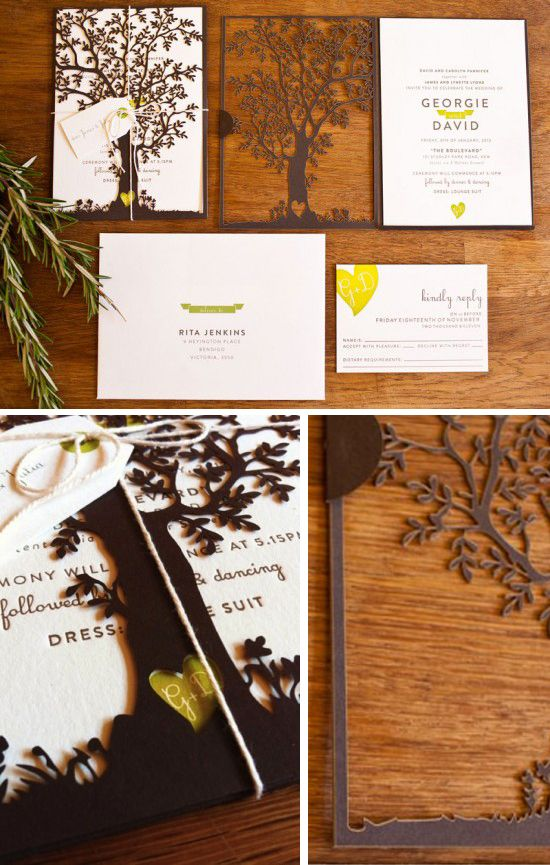 reunions wedding and cute cards on pinterest With cricut tree wedding invitations