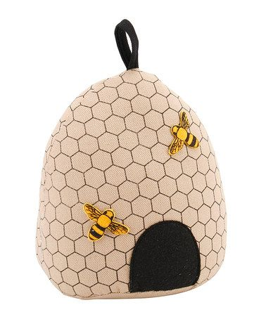 Take a look at this Bee Hive Fabric Doorstops by Container Group Buying on #zulily today!