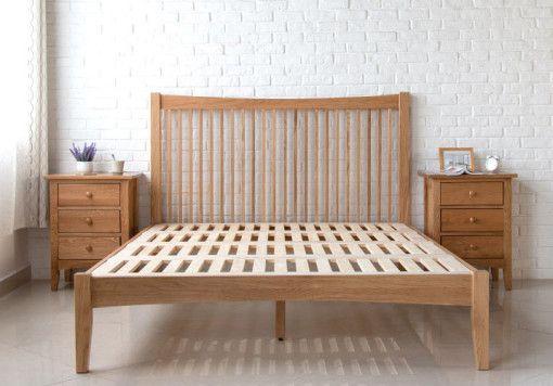 Thames Wood Bed Frame Solid Oak Wood With Images Bed Frame