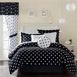 Bedding Set Decoration for Daughter : Round Black And White Bedding ...
