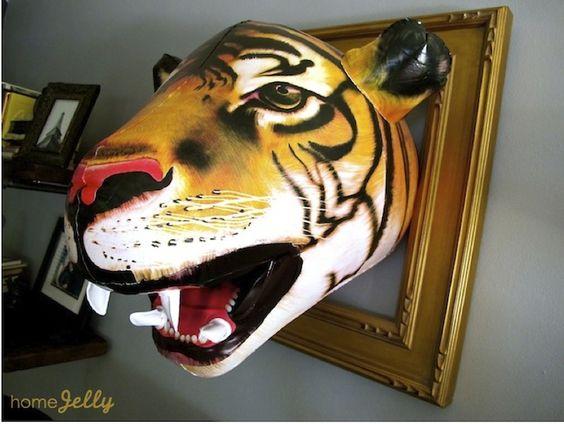 Inflatable Tiger Head...humorous design