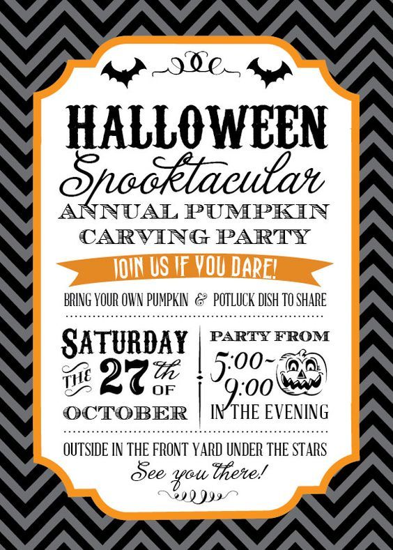 Halloween Pumpkin Carving Party Ideas would love to go all out like this invite one year for a Halloween family & friends pumpkin party thing.