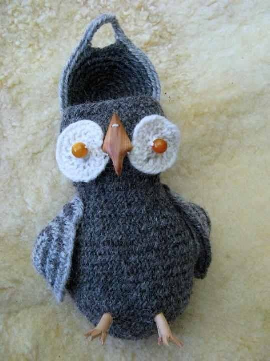 Nadelbinden Eule / Owl