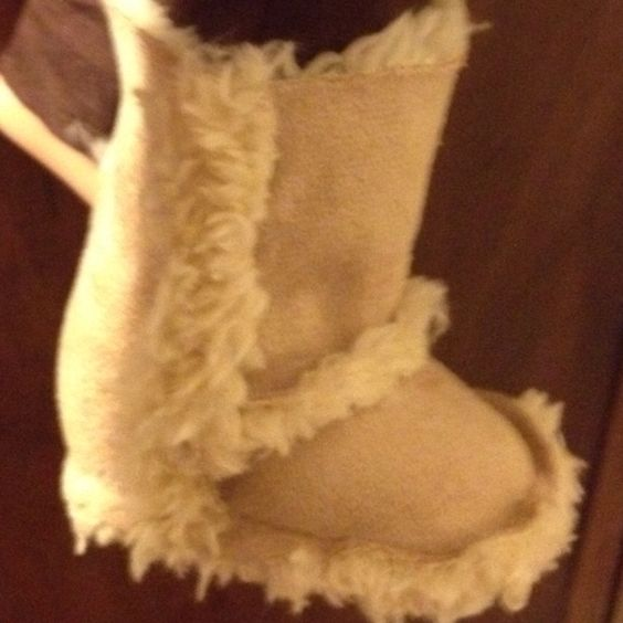 "American Girl 18"" Doll UGG boots made using McCall's sewing pattern 6257. Very easy to make."