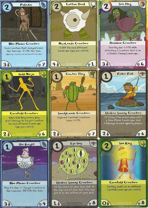 Cryptozoic Adventure Time Card Wars - time card