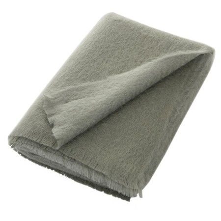Bronte - Seal Green Mohair Throw - 140x185cm For snuggling on a chilly evening.