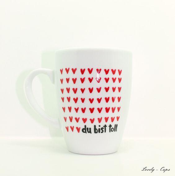 tasse mit herz und spruch du bist toll und namen | say i love you