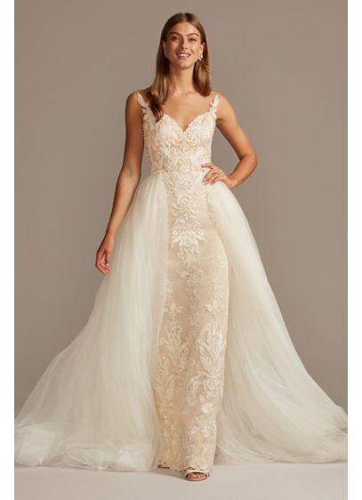 Wedding dress with bridal skirt 3