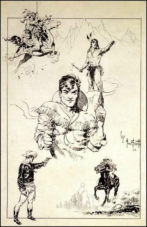 Cap'n's Comics: Some Sketchy Frank Frazetta