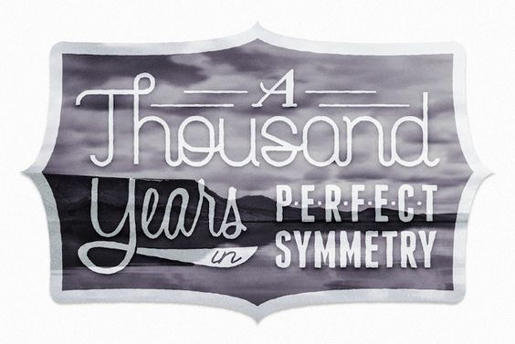 A thousand years in perfect symmetry.