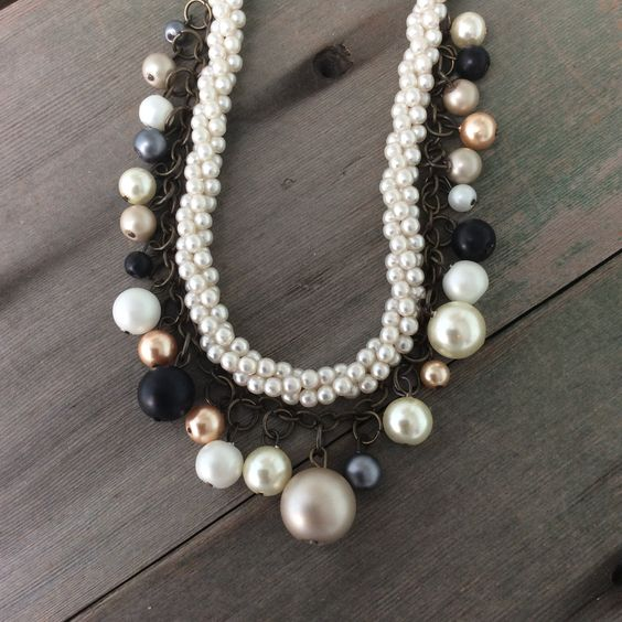 Precious Pearl Necklace/Wedding/Victorian/Multi Strand/Recycle by TheOmbrePoodle on Etsy