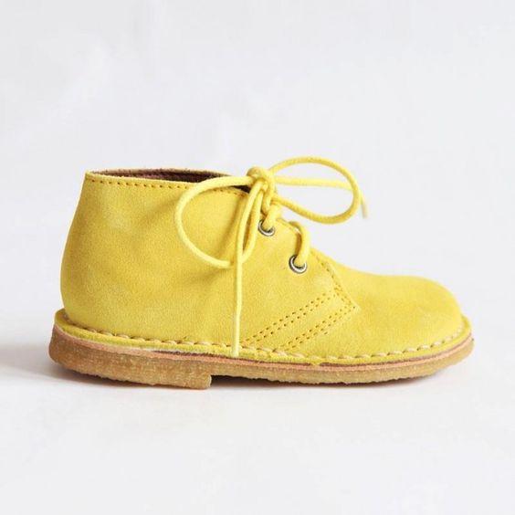 Bisgaard Sko SS12 yellow children's  lace shoes