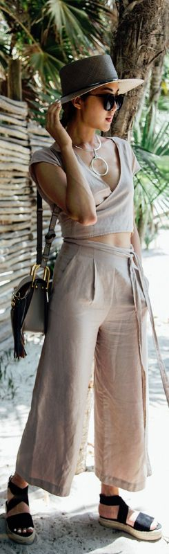 Hat: Janessa Leone , Jumpsuit: Aritzia , Shoes: Raye , Necklace: Capwell & Co. , Bag: Chloe // Fashion Look by The Chriselle Factor: