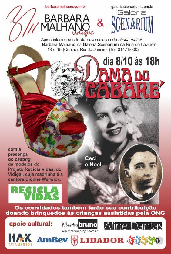 """Desfile da coleção """"A Dama do Cabaré"""" da shoes maker Bárbara Malhano, dia 8 de outubro de 2014, na Galeria Scenarium, na Rua do Lavradio, 13 e 15, no centro do Rio. Mais detalhes aqui: http://damadocabare.barbaralhano.com.br"""
