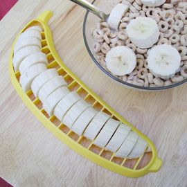 Banana cutter! I eat bananas all the time, this is a must have :)