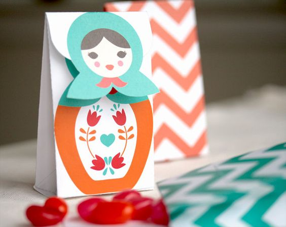 Babushka candy box favor printable by Lafabriqueabricole on Etsy. $5.50, via Etsy.: