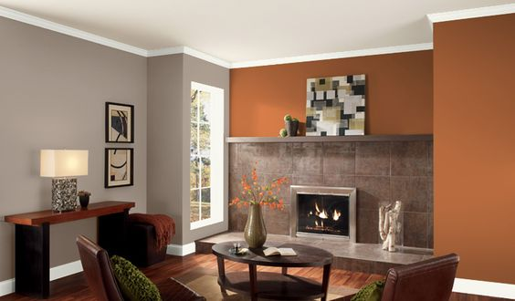 Valspar orange glaze living room paint pinterest - Orange color paint for living room ...