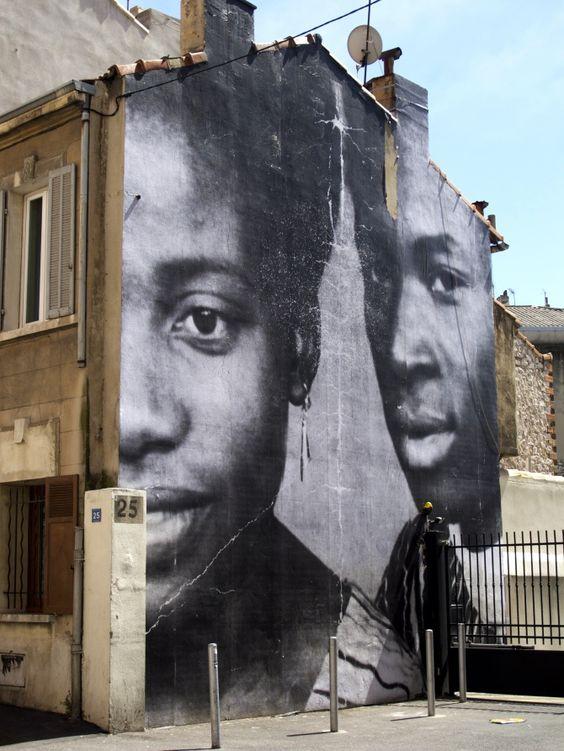 Marseille par JR – Berthe et Diallo - photo ©WonderBrunette