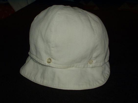 The Gatherings Antique Vintage - Vintage Boy Children White Pique Button Brim 1920s 1930s Hat Cap, $12.00 (http://store.the-gatherings-antique-vintage.net/vintage-boy-children-white-pique-button-brim-1920s-1930s-hat-cap/)