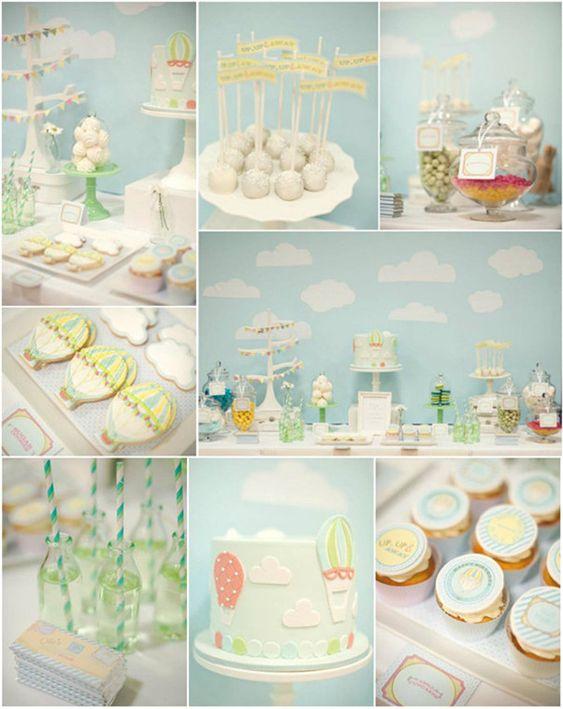 Hot Air Balloon Baby Shower Ideas | Baby Shower Ideas | Pinterest | Hot Air  Balloons, Air Balloon And Babies