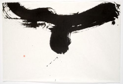 sumi inks - soaring, Diane Abt. Soaring, Sumi ink on handmade Japanese paper, 38 x 25 inches