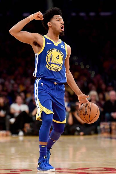 Quinn Cook Of The Golden State Warriors Calls Out In The First Quarter Against The Los Angeles Lak Golden State Warriors Golden State Warriors Pictures Warrior