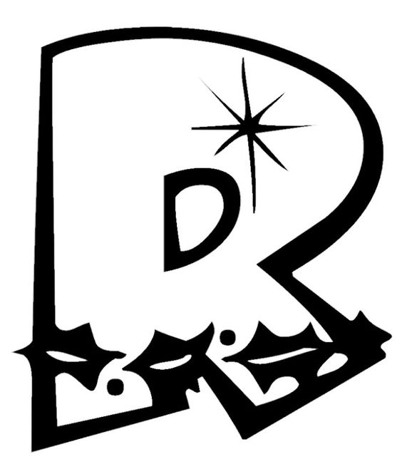 capital alphabet r for star coloring pages