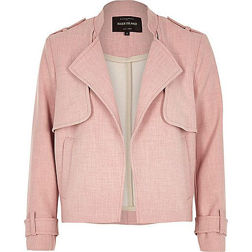 Pink cropped trench jacket - jackets - coats / jackets - women
