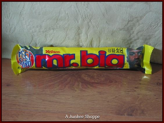 "SHAQUILLE O'NEAL 1995 First Mr. Big Candy Bar ""Not Eaten"" In Wrapper Extinct  P733  http://ajunkeeshoppe.blogspot.com/"
