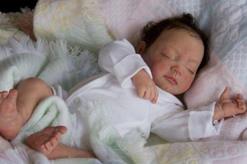 Jaden baby doll kit by Artist Aleina Peterson for reborn + Mohair & Eyelash