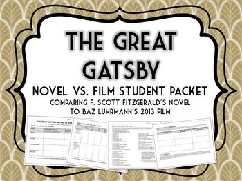 comparative study the great gatsby How can i compare othello and the great gatsby for a comparative essay posted on may 11, 2014.