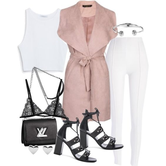 A fashion look from June 2016 featuring Zara tops, River Island leggings and Yves Saint Laurent sandals. Browse and shop related looks.