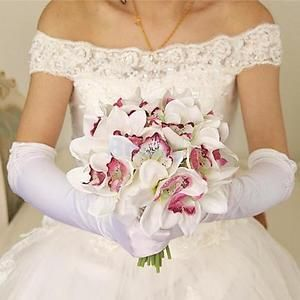 Faux-Orchids-Bouquet-Artificial-Flowers-Shabby-Wedding-Bridal-Decor-8-Color-Pick