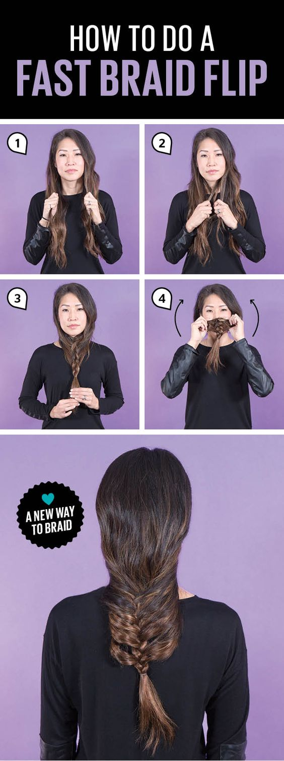 Braid...and FLIP! This easy hairstyle is the fastest way to get a polished braid when you're short on time.