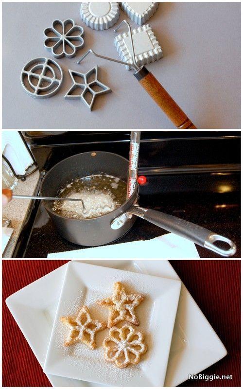 How to make rosette cookies - NoBiggie.net #christmas #cookies