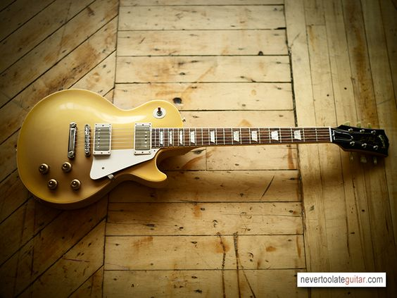 It's a thing of beauty - Gibson Les Paul Gold Top Electric Guitar. I own a Agile version of this guitar.