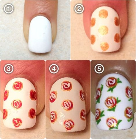 Easy rose nails