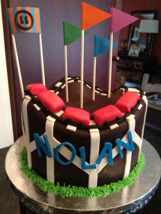 - Roller coaster birthday cake
